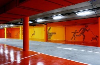 Hotel Puerta América - přízemí, 5 - 11. poschodí - Teresa Sapey - podzemní parkoviště - foto: © Hoteles Silken; Rafael Vargas, 2005