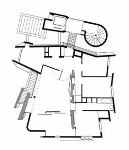 Bytový dům Pelleport - Půdorys 3.np - foto: Frederic Borel & Associes