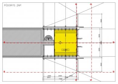 Přístavba Jižní Čechy - Půdorys 2.np - foto: Huť architektury Martin Rajniš