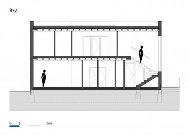 Fyzioterapeutické ordinace a kanceláře - Řez - foto: BLOK_architekti
