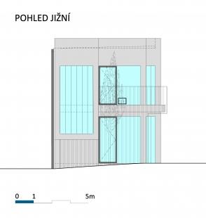 Fyzioterapeutické ordinace a kanceláře - Jižní pohled - foto: BLOK_architekti