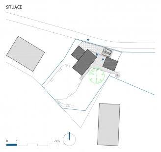Víkendový dům nad lomem - Situace - foto: BLOK_architekti