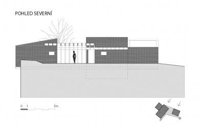 Víkendový dům nad lomem - Severní pohled - foto: BLOK_architekti