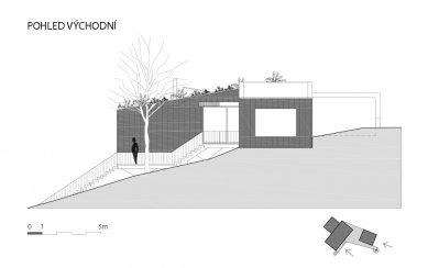 Víkendový dům nad lomem - Východní pohled - foto: BLOK_architekti
