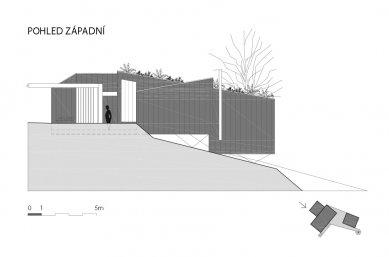 Víkendový dům nad lomem - Západní pohled - foto: BLOK_architekti
