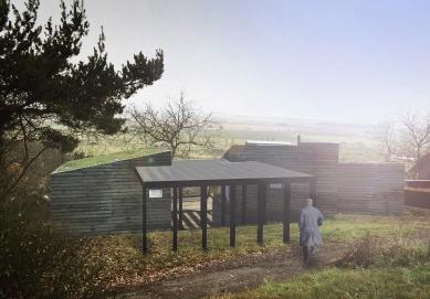 Víkendový dům nad lomem - Vizualizace - foto: BLOK_architekti