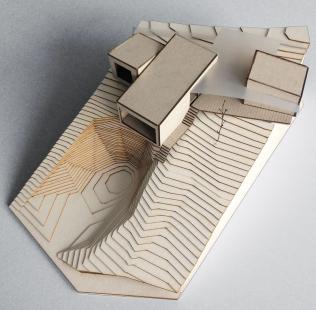 Víkendový dům nad lomem - Fotografie modelu - foto: BLOK_architekti