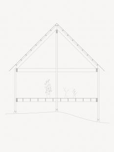Prázdninový dům na ostrově Viggsö - Řez b-b' - foto: Arrhov Frick Arkitektkontor