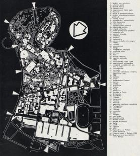 Československý pavilon na světové výstavě Expo 58 - Situace