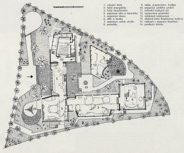 Československý pavilon na světové výstavě Expo 58 - Půdorys přízemí