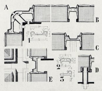 Československý pavilon na světové výstavě Expo 58 - Konstrukční detaily mozaikových panelů obvodových stěn