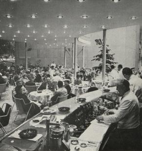Československý pavilon na světové výstavě Expo 58 - Terasa restaurace