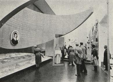 Československý pavilon na světové výstavě Expo 58 - Expozice Věda, písemnictví, hudba