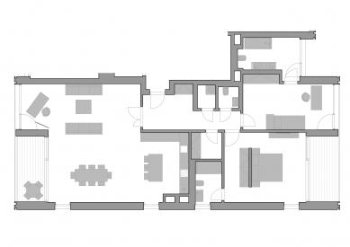 Střešní apartmán, Vokovice - Půdorys