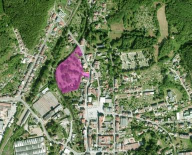Revitalizace Parku A. Jiráska v Hronově - Situace širších vztahů