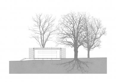 Pavilon na Výstavišti - Příčný řez - foto: Papundekl architekti