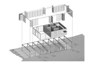 Pavilon na Výstavišti - Rozložená axonometrie - foto: Papundekl architekti