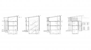 Apartment Building along a Party Wall - Příčné řezy - foto: Herzog & de Meuron