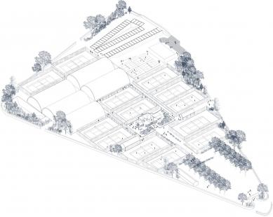 Garden Tennis Club of Cabourg - Situace - foto: Lemoal Lemoal Architectes
