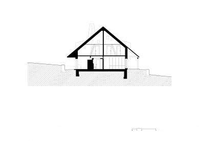 Horská usedlost na Šumavě - Příčný řez - foto: třiarchitekti
