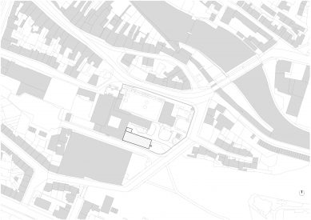 Přístavba Katolického gymnázia vTřebíči - Situace - původní stav