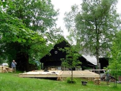 Stodola v Maxově - Fotografie z průběhu stavby - foto: © archiv Martina Rajniše