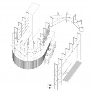 Galerie a prostor - Axonometrie