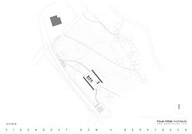 Víkendový dům v Beskydech - Situace