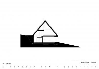 Víkendový dům v Beskydech - Řez