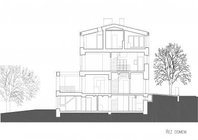 Vila v Matějské - Řez - foto: Lábus - AA Architektonický Ateliér