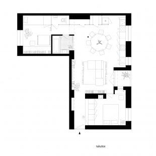 Apartment Svätoplukova - Návrh - foto: Kilo / Honč