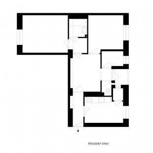 Apartment Svätoplukova - Původní stav - foto: Kilo / Honč