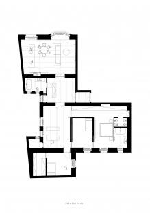 Byt L10 - Navrhovaný stav - foto: Martin Skoček