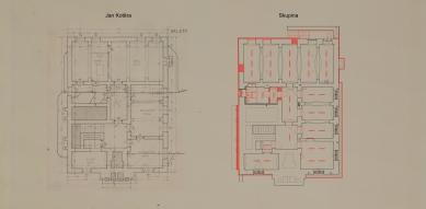 Obnova Školy architektury AVU - Půdorys 1.pp - foto: Skupina