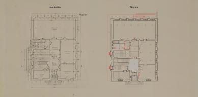 Obnova Školy architektury AVU - Půdorys 1.np - foto: Skupina