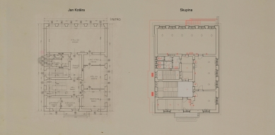 Obnova Školy architektury AVU - Půdorys 2.np - foto: Skupina