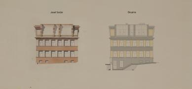 Obnova Školy architektury AVU - Severní fasáda - foto: Skupina
