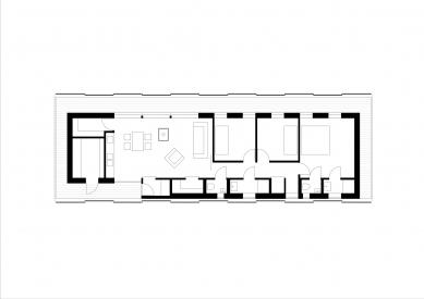 Dům vKřižánkách - Půdorys - foto: Kuba a Pilař architekti