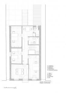 Robert Ivens House - Půdorys 2.np - foto: Castanheira & Bastai Architects