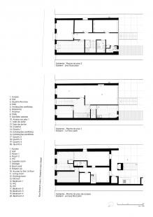 Robert Ivens House - Půdorysy původního stavu z roku 1961 - foto: Castanheira & Bastai Architects