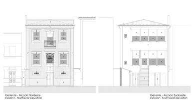 Robert Ivens House - Uliční a zahradní fasáda - foto: Castanheira & Bastai Architects