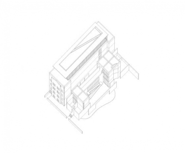 Wrightwood 659 exhibition space - Axonometrie - foto: Tadao Ando Architect and Associates