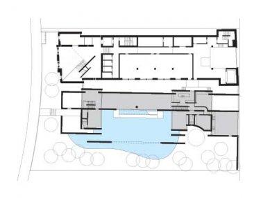 Wrightwood 659 exhibition space - Půdorys přízemí - foto: Tadao Ando Architect and Associates
