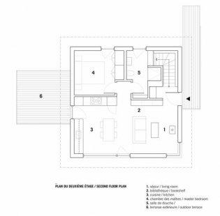 Horská chata - Půdorys přízemí - foto: _naturehumaine architects