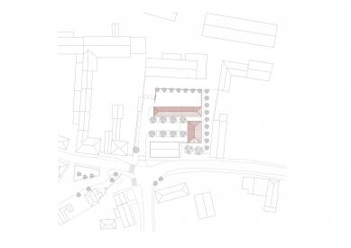Hospodářský dvůr s hasičárnou vLíbeznicích - Situace - foto: Ehl & Koumar architekti