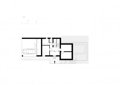 Rodinný dům v Líšni - Půdorys 1.pp - foto: Studio New Work