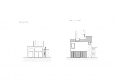 Rodinný dům v Líšni - Severní a jižní pohled - foto: Studio New Work