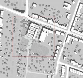 Městská hala Modřice - Situace