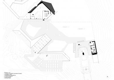 Bachledka – vrcholová vybavenosť - Půdorys 1.np - foto: Compass architekti