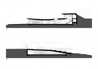 Bachledka – vrcholová vybavenosť - Řezy A a B - foto: Compass architekti